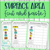 Surface Area Gift Wrapping Cut and Paste Worksheet