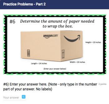 Surface Area Google Form Bundle – Perfect for Google Classroom!