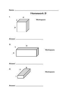 Surface Area Homework bundle
