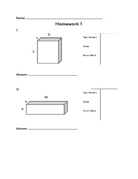 Surface Area Homework bundle
