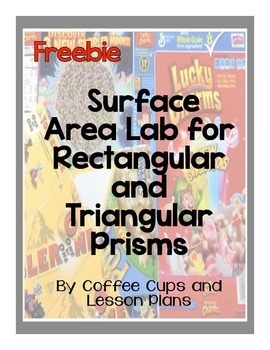 Surface Area Lab Freebie