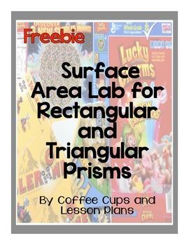 Surface Area Lab Freebie
