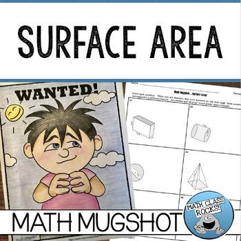 """SURFACE AREA - """"MATH MUGSHOT"""""""