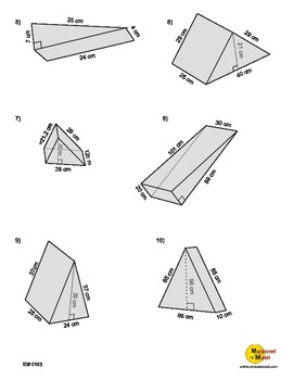 surface area of a triangular prism by maisonet math middle school resources. Black Bedroom Furniture Sets. Home Design Ideas