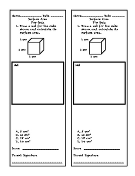 Surface Area Pop Quiz
