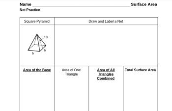 Surface Area Prisms and Pyramids