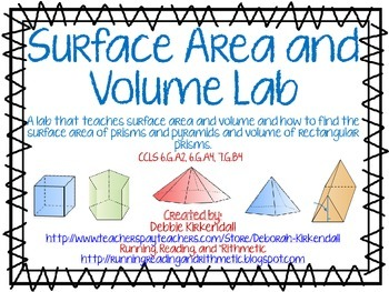 Surface Area (Prisms and Pyramids) and Volume Lab