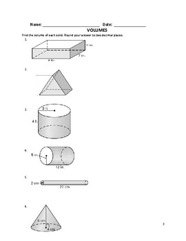 Surface Area – Pyramids and Cones