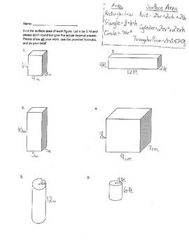 Surface Area Quiz