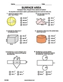 Surface Area Quiz - Mixed Practice
