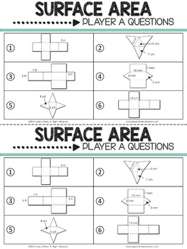 Surface Area  Reciprocal Learning Activity {Editable}