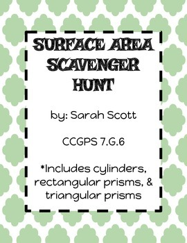 Surface Area Scavenger Hunt