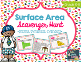 Surface Area Scavenger Hunt {prisms, pyramids, and cylinders}