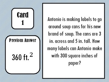 Surface Area Scavenger Hunt (Word Problems!)