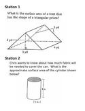 Surface Area Stations: Prisms and Cylinders