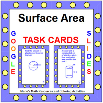 AREA: SURFACE AREA - TASK CARDS (16 CARDS) G.MG.1