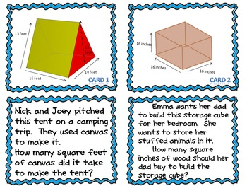Surface Area Task Cards