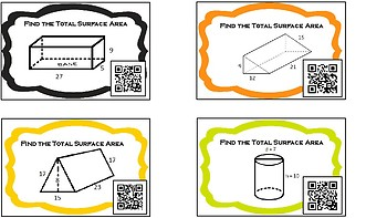 TEKS 8.7B - S.A. Task Cards with QR Codes