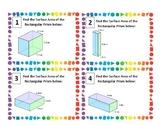 Surface Area Task Cards- Rectangular Prisms
