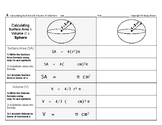 Surface Area & Volume 03: Surface Area & Volume of 9 Geometric Solids
