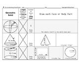 Surface Area & Volume 02: Deconstruct 3-Dimensional Geometric Solids + QUIZ