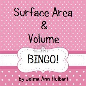 Surface Area & Volume - BINGO game