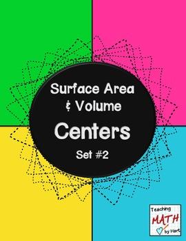 Surface Area & Volume Centers - Set #2