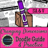 Surface Area & Volume: Changing Dimensions Doodle Guide & Practice Worksheet
