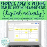 Surface Area and Volume Missing Measurements DIGITAL Activity Distance Learning