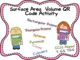 Surface Area & Volume QR Code Activity