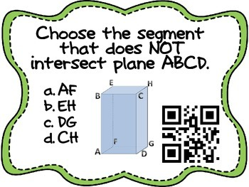 Surface Area & Volume QR Code Activity