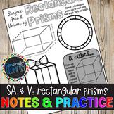 Surface Area & Volume: Rectangular Prisms Doodle Guide & Practice Worksheet
