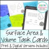 Surface Area & Volume Task Cards - PDF & Digital