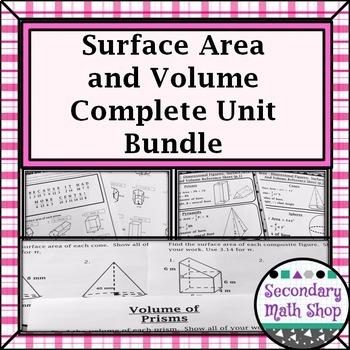 Surface Area & Volume - Unit 11: 3 - Dimensional Figures U