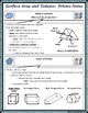 Surface Area & Volume - Unit 11 - Surface Area and Volume of Prisms Notes/HMWK