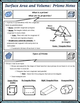 Surface Area & Volume - Unit 11 - Surface Area and Volume ...