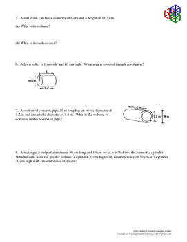 Surface Area & Volume- Word Problems
