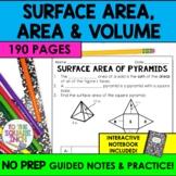 Surface Area, Volume and Area Bundle