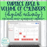 Surface Area & Volume of Cylinders DIGITAL Activity for Google Distance Learning