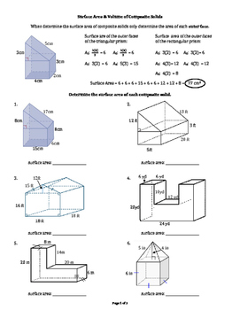 Surface Area & Volume of Right Angle Composite Solids