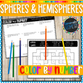 Surface Area & Volume of Spheres & Hemi-Spheres Color by Number; Geometry
