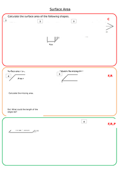 Surface Area Worksheet 1