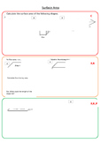 Surface Area Worksheet 1