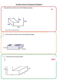 Surface Area Worksheet 2