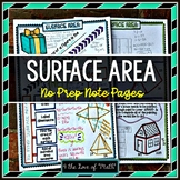 Surface Area and Nets No Prep Note Pages