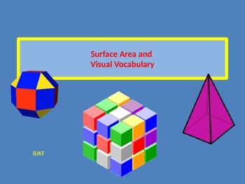 Surface Area and Visual Vocabulary