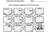 Surface Area and Volume Activity: Math Maze