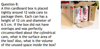 Surface Area and Volume Applications (Geometry)