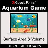 Surface Area and Volume | Aquarium Game | Google Forms | D
