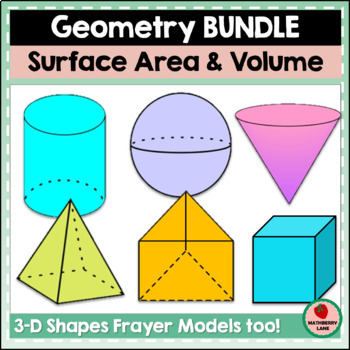 Surface Area and Volume Bundle Geometry Practice Review